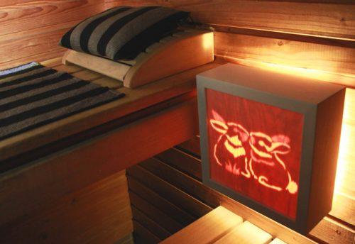 Suloiset puput saunavalaisimessa