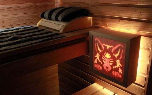 Tunnelmallinen saunavalaisin