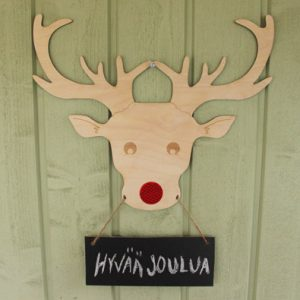 hyvää joulua- ovikyltti